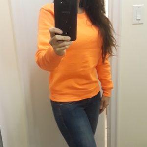 Tops - Neon orange sweatshirt NWOT